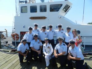 LT Lydia Monks (St Joe's '09) takes command of USCG Stingray!